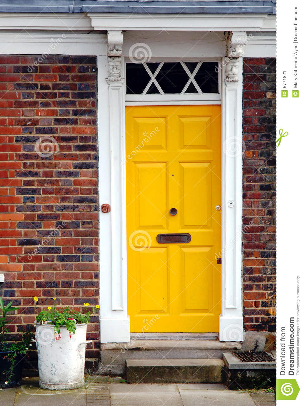 Yellow Door Stock Image Image Of Architectural Outdoors