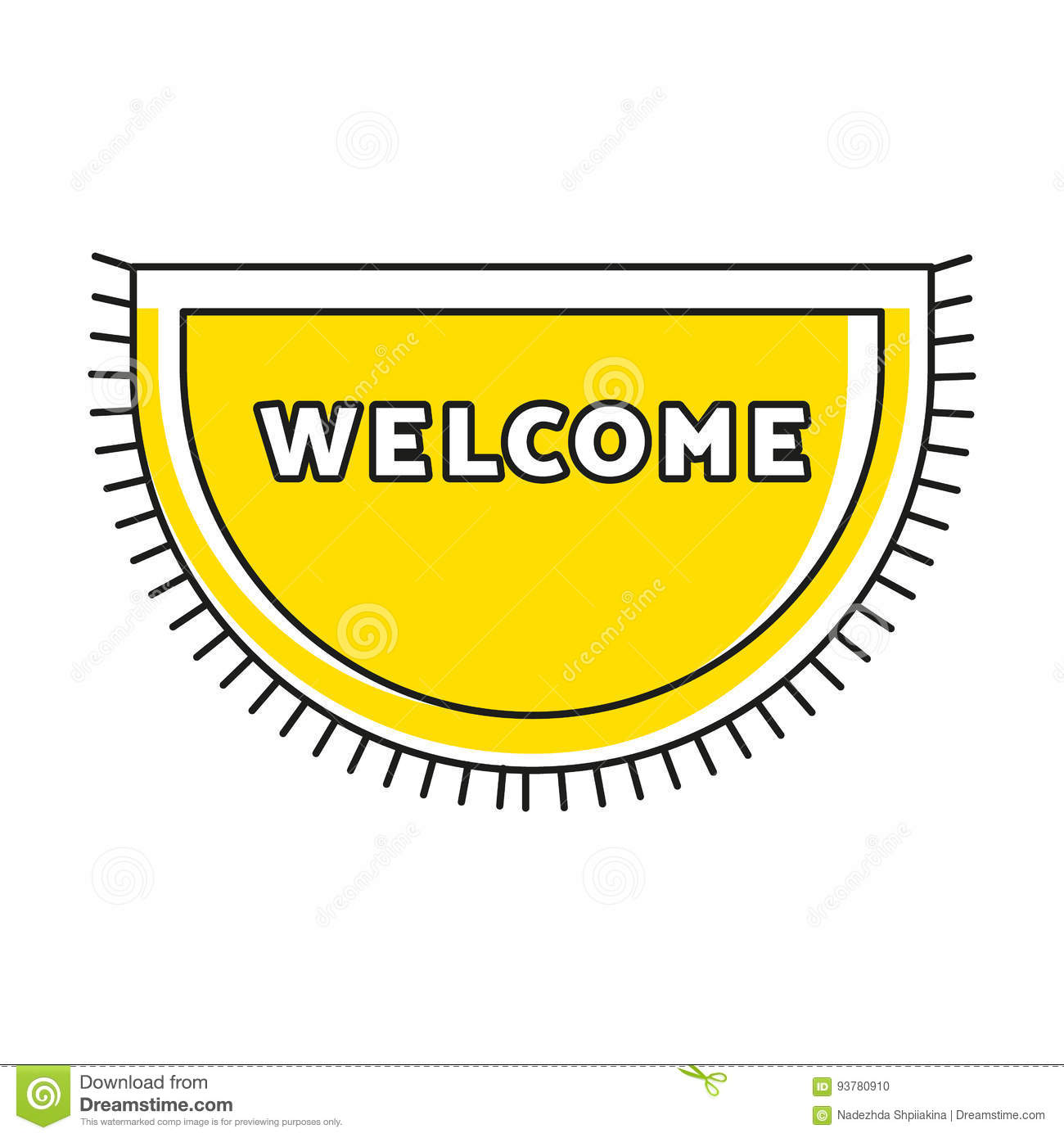 Yellow doormat with fringe and text welcome cute home symbol yellow doormat with fringe and text welcome cute home symbol simple hipster design household interior item buycottarizona Gallery
