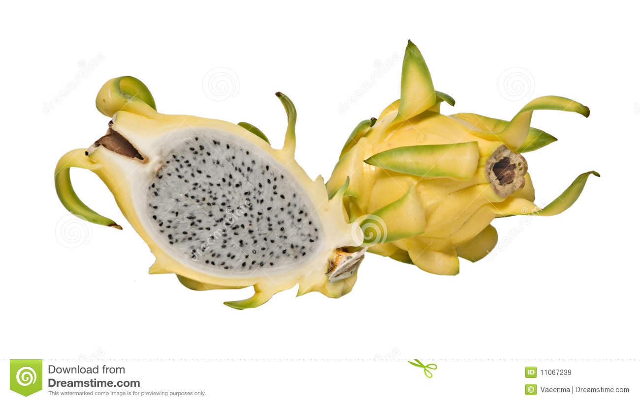 Yellow Dragon Fruit And Its Section Royalty Free Stock Images ...