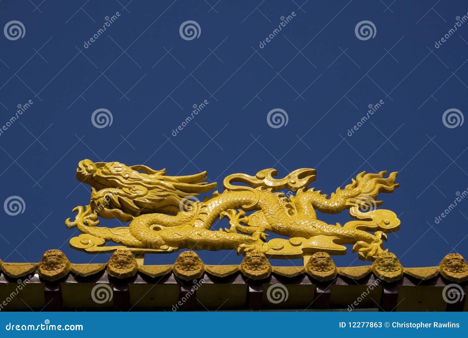 Yellow Dragon at Temple