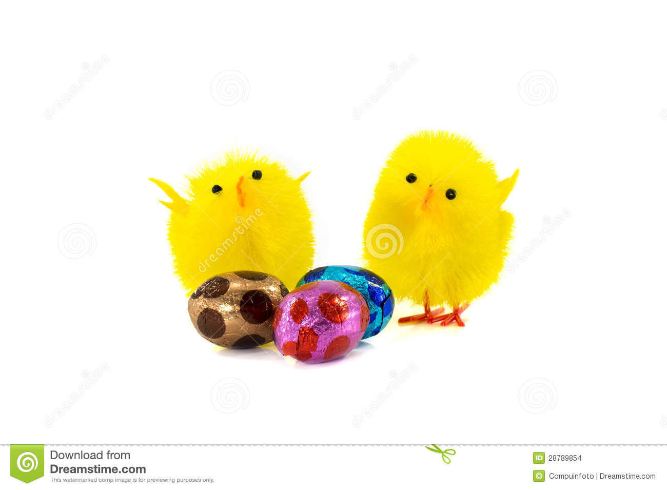 Yellow Easter Duck And Eggs Stock Images Image 28789854