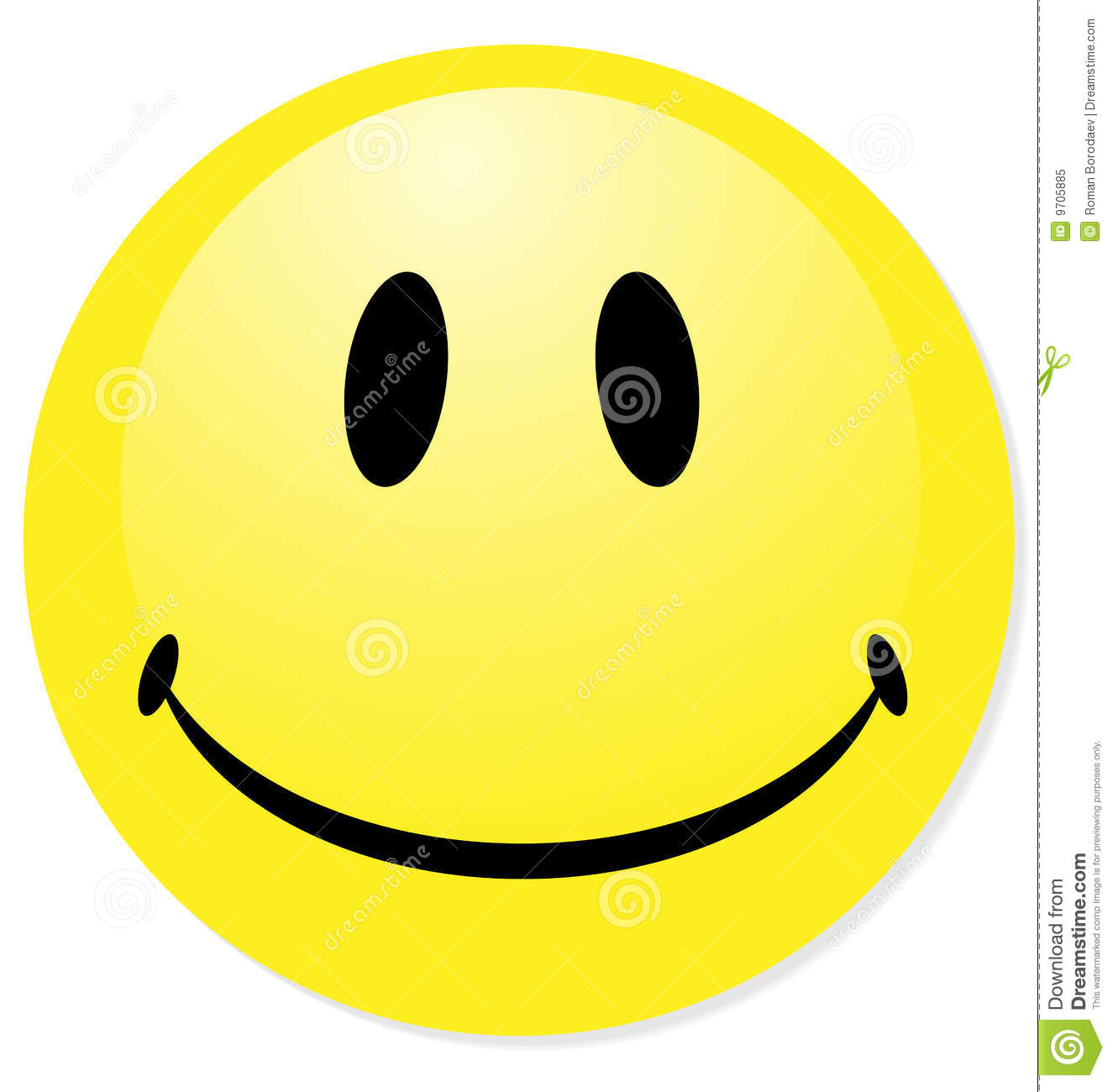 Vector smiley yellow emoticon. Perfect for icon, button, badge. Blend ...