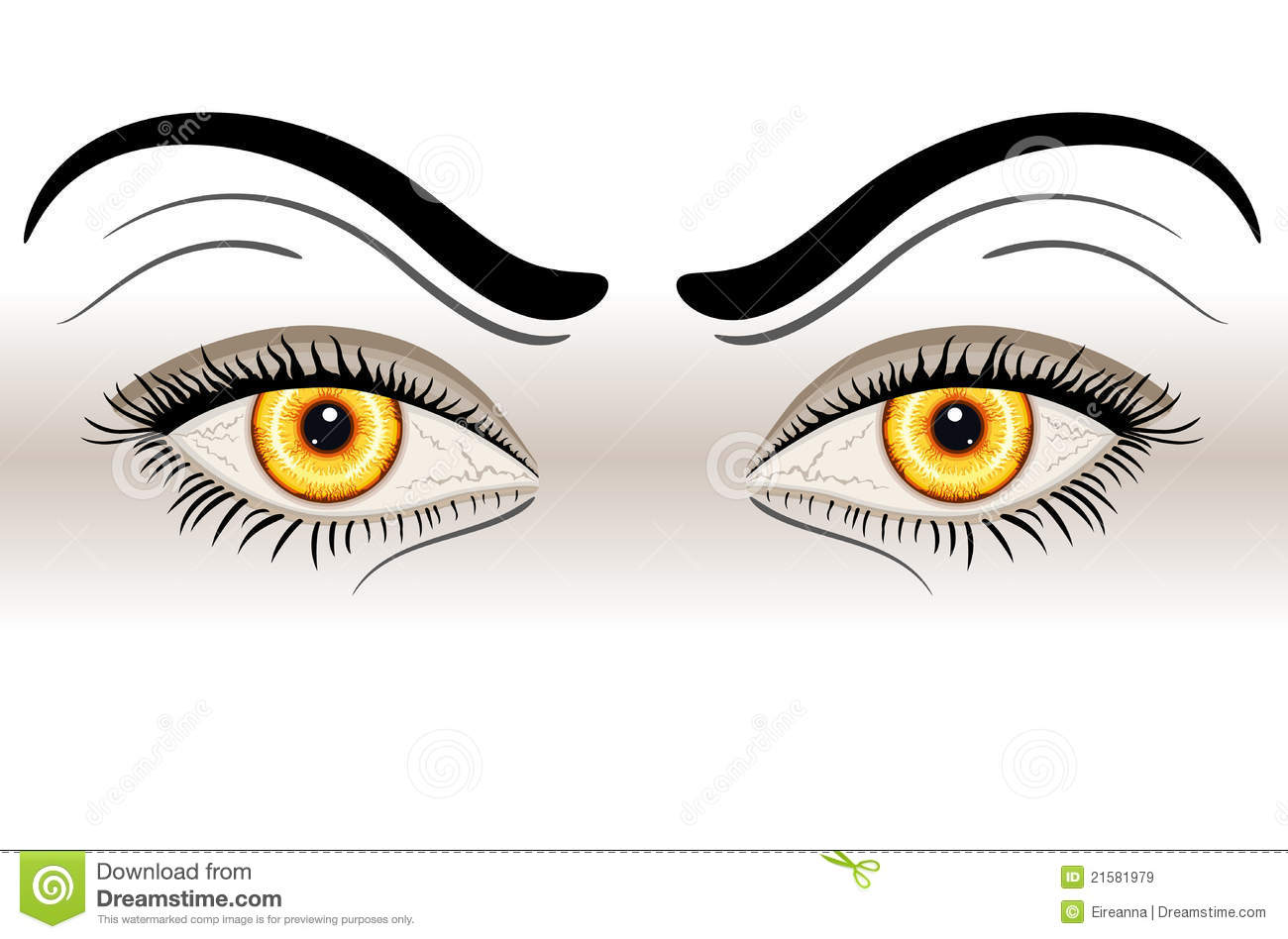 Yellow evil eyes royalty free stock images image 21581979 - Scary yellow eyes ...