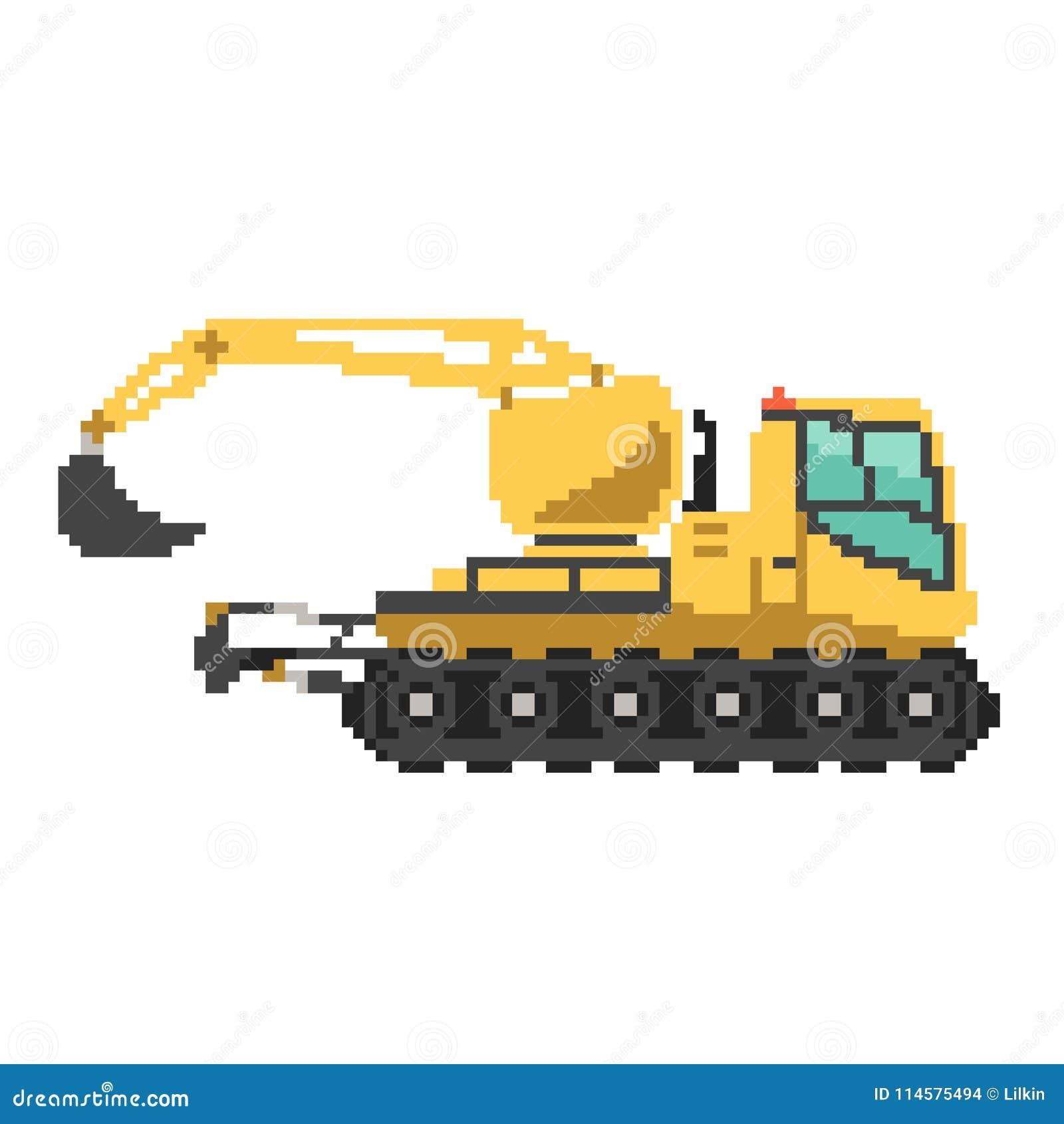 Excavator Illustration Color Isolated Art RoyaltyFree Illustration CartoonDealer 39720333