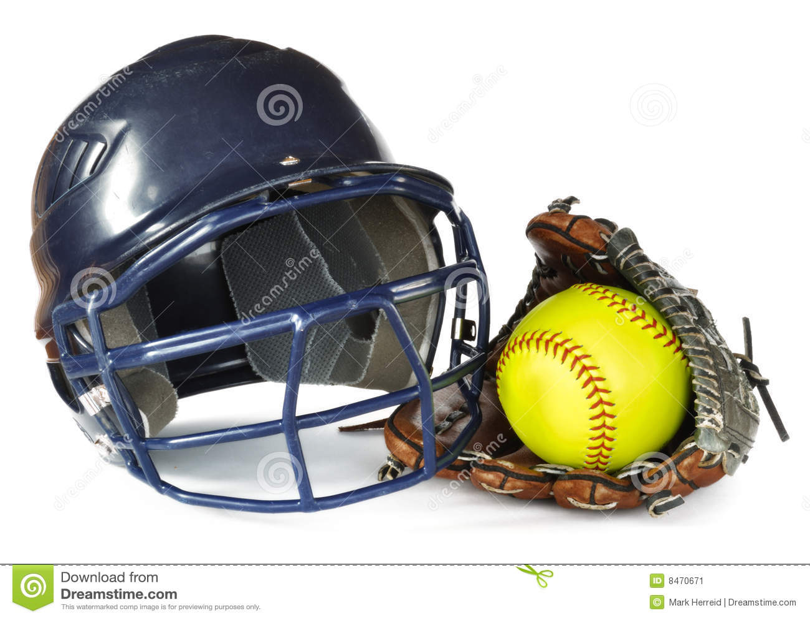 Yellow för handskehjälmsoftball