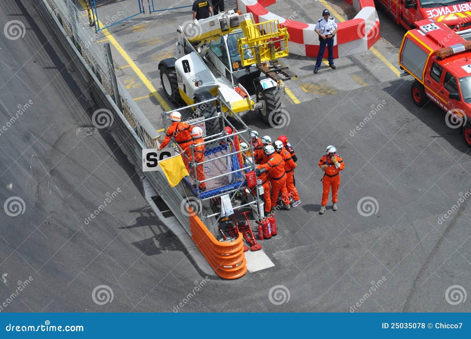 Yellow för säkerhet för bilflaggarace