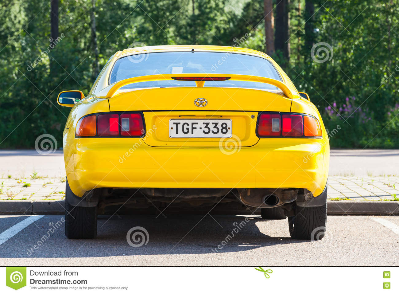 Toyota Celica 2016 >> Yellow Facelift Toyota Celica Gt Car Editorial Photography
