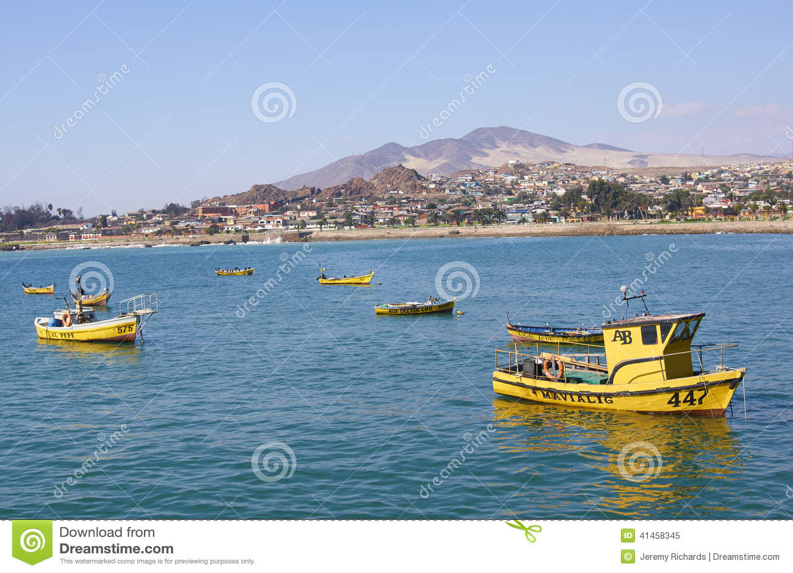 Yellow Fishing Boats