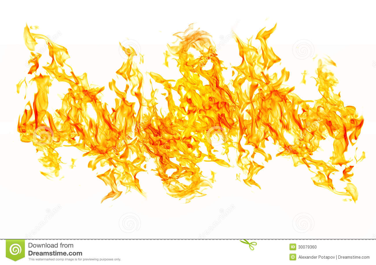 Isolated On White Bright Yellow Fire Band Stock Photo Image 30079360