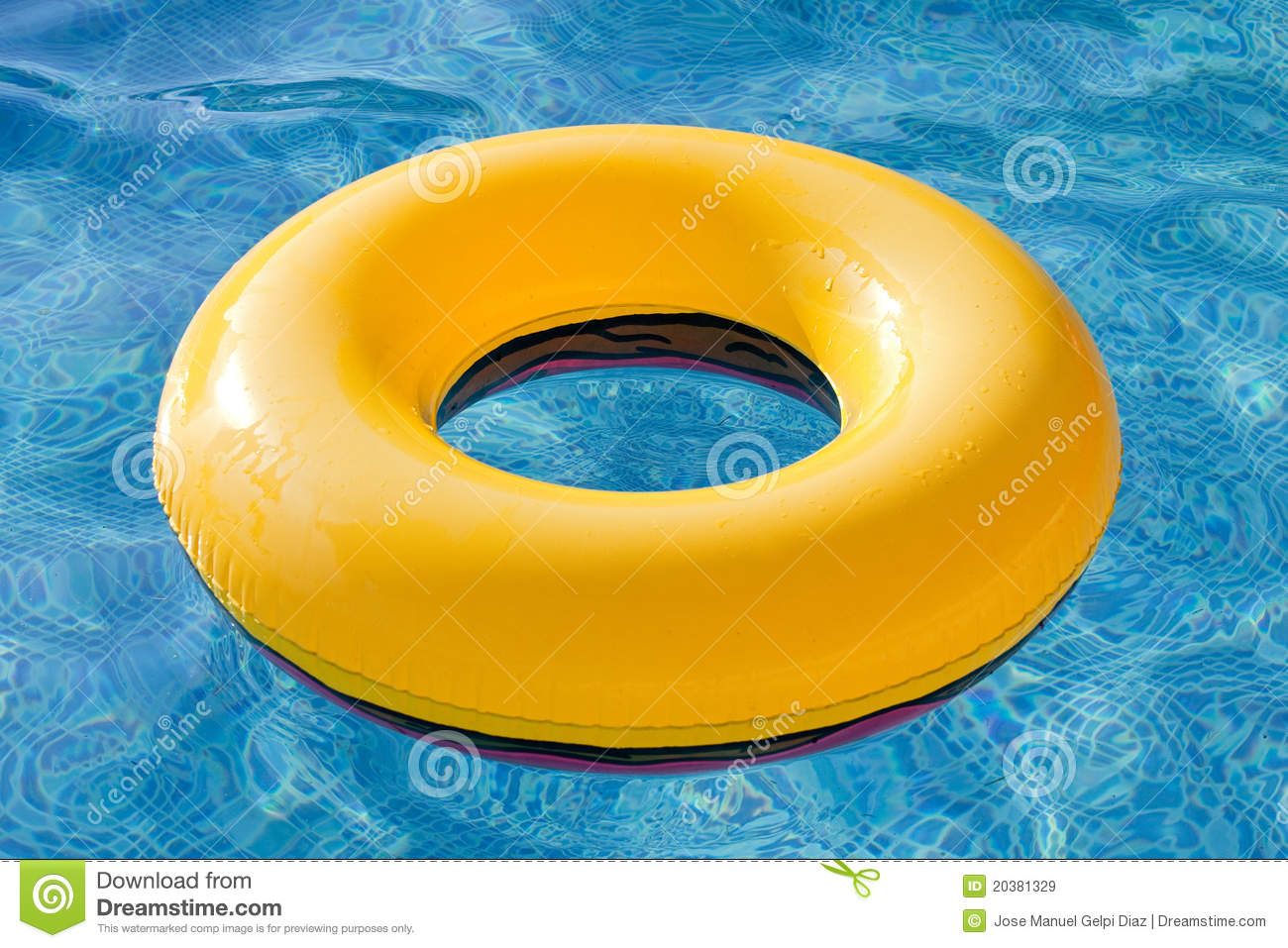 Yellow Float Floating In The Pool Royalty Free Stock Images Image