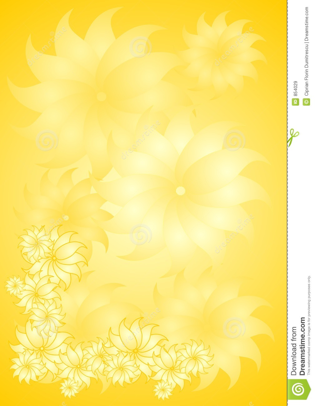 Yellow Floral Background Stock Vector Illustration Of Photo 854029