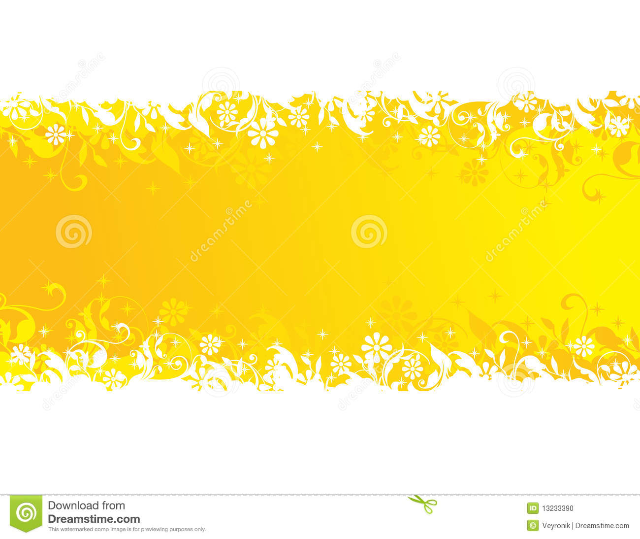 Green Tea Leaf Vector Yellow banner with lea...