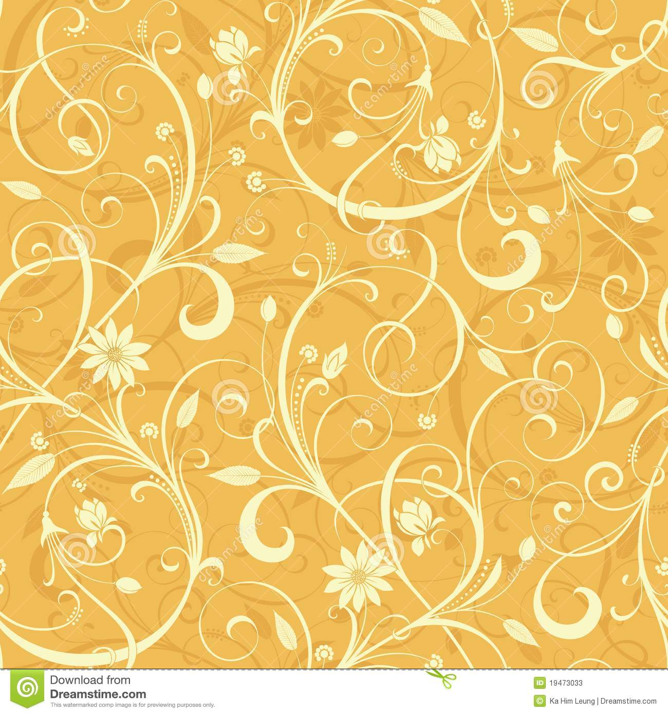 yellow floral pattern - photo #30