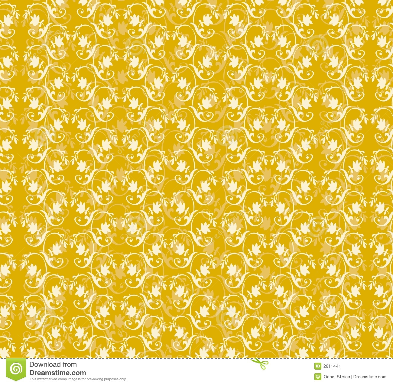 yellow floral pattern - photo #22