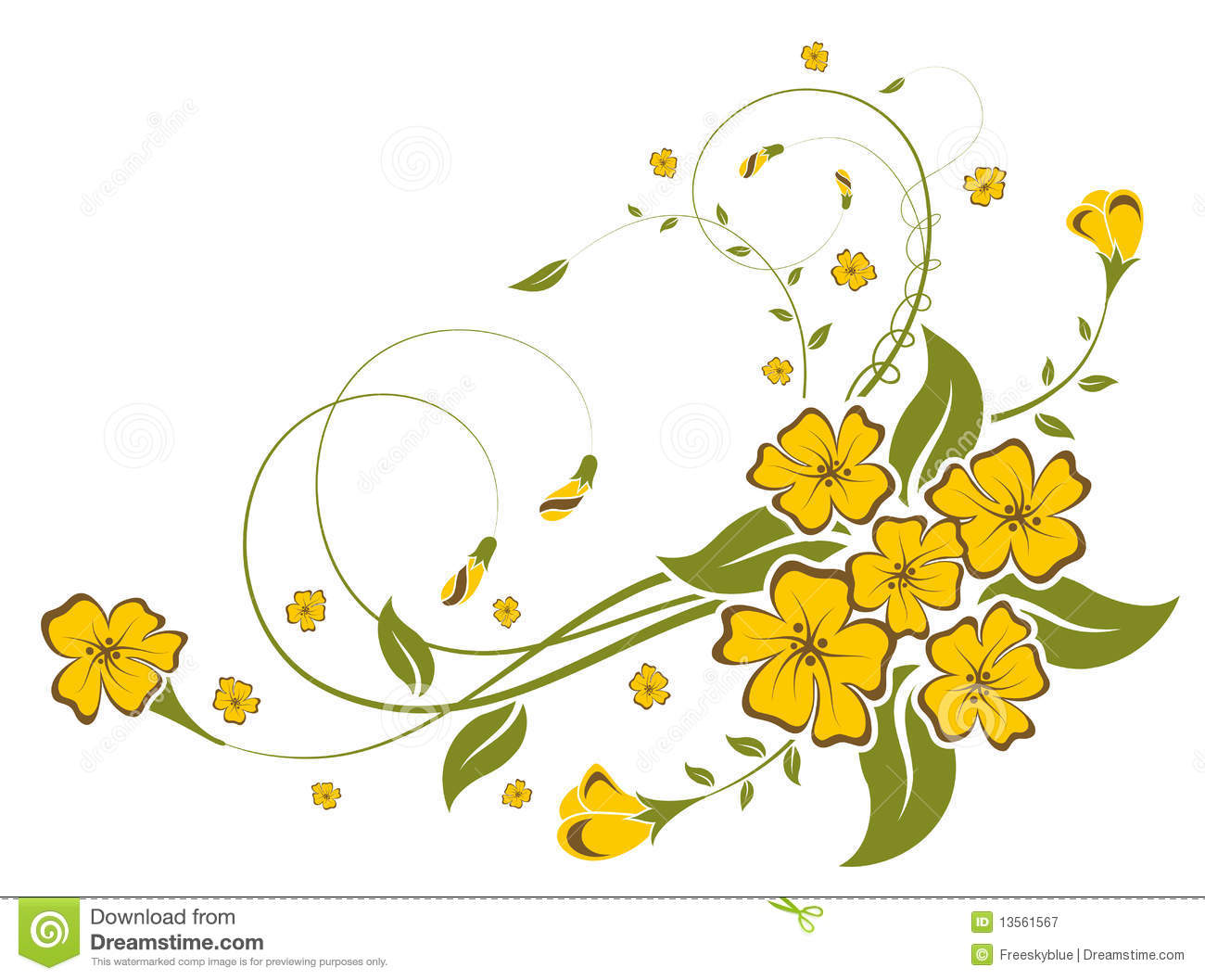 Yellow Flower Royalty Free Stock Photography Image 13561567