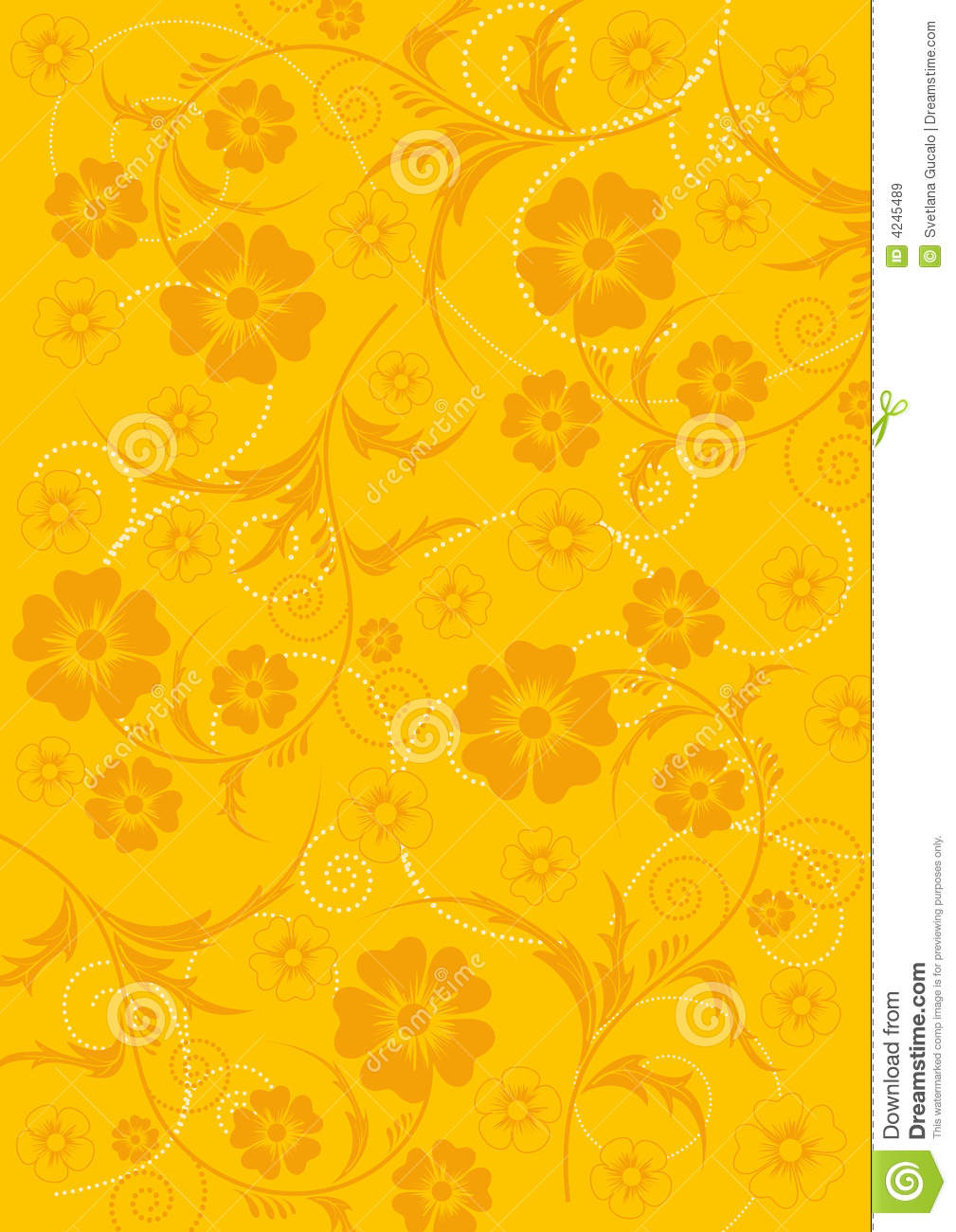 Yellow Flower Background Stock Vector Illustration Of