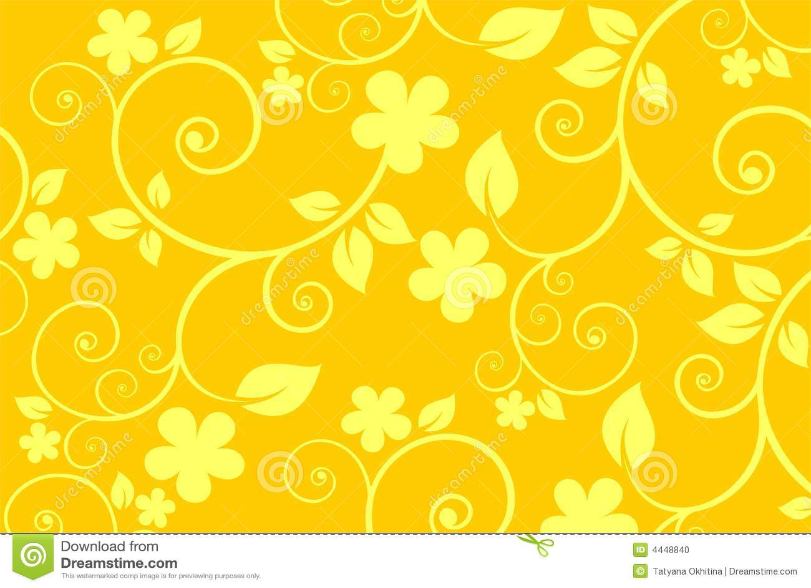 Yellow Flower Background Stock Vector Illustration Of Flower 4448840
