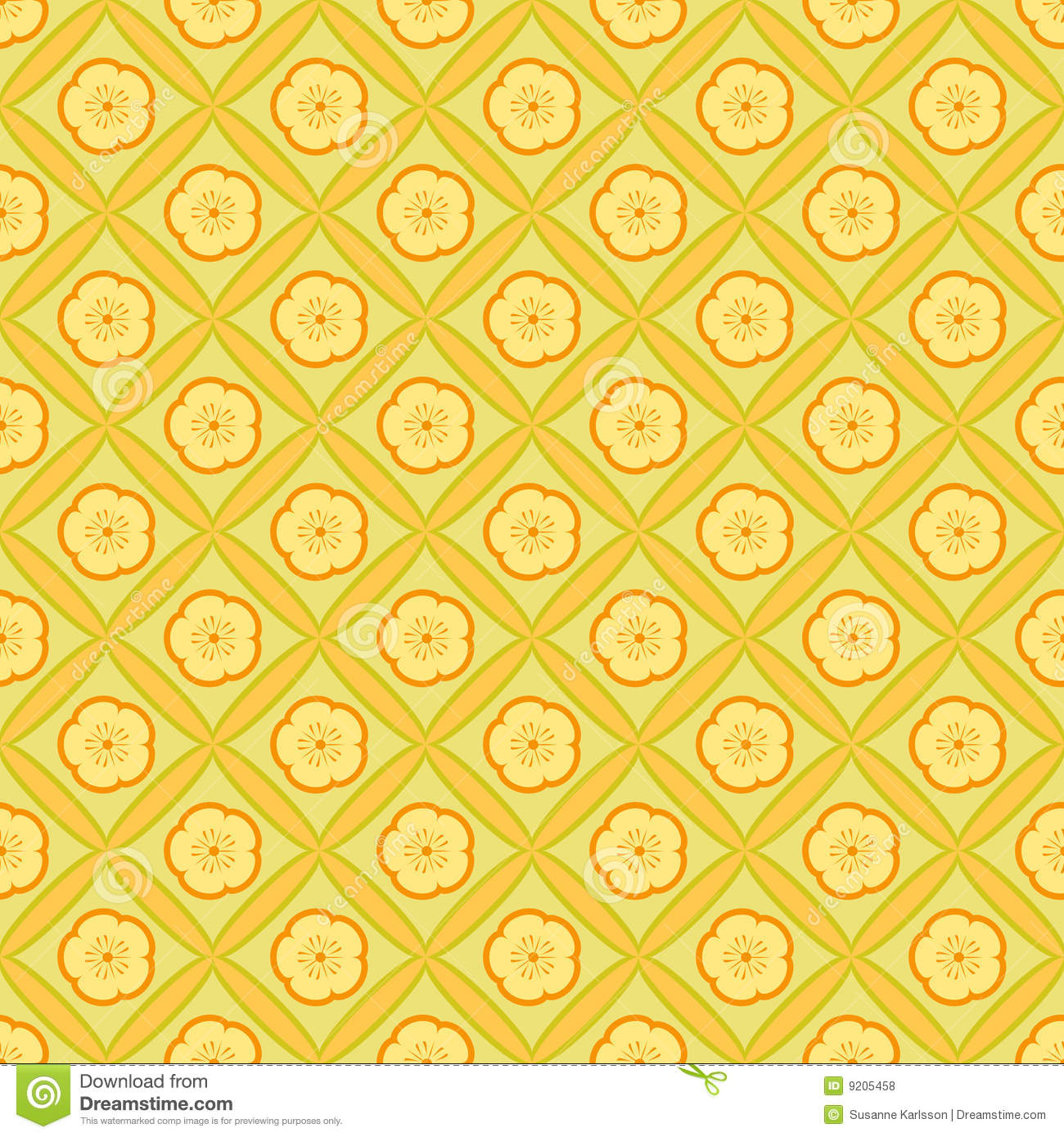 yellow floral pattern - photo #46