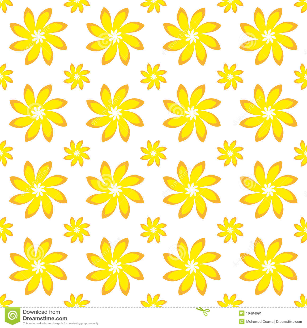 yellow floral pattern - photo #37