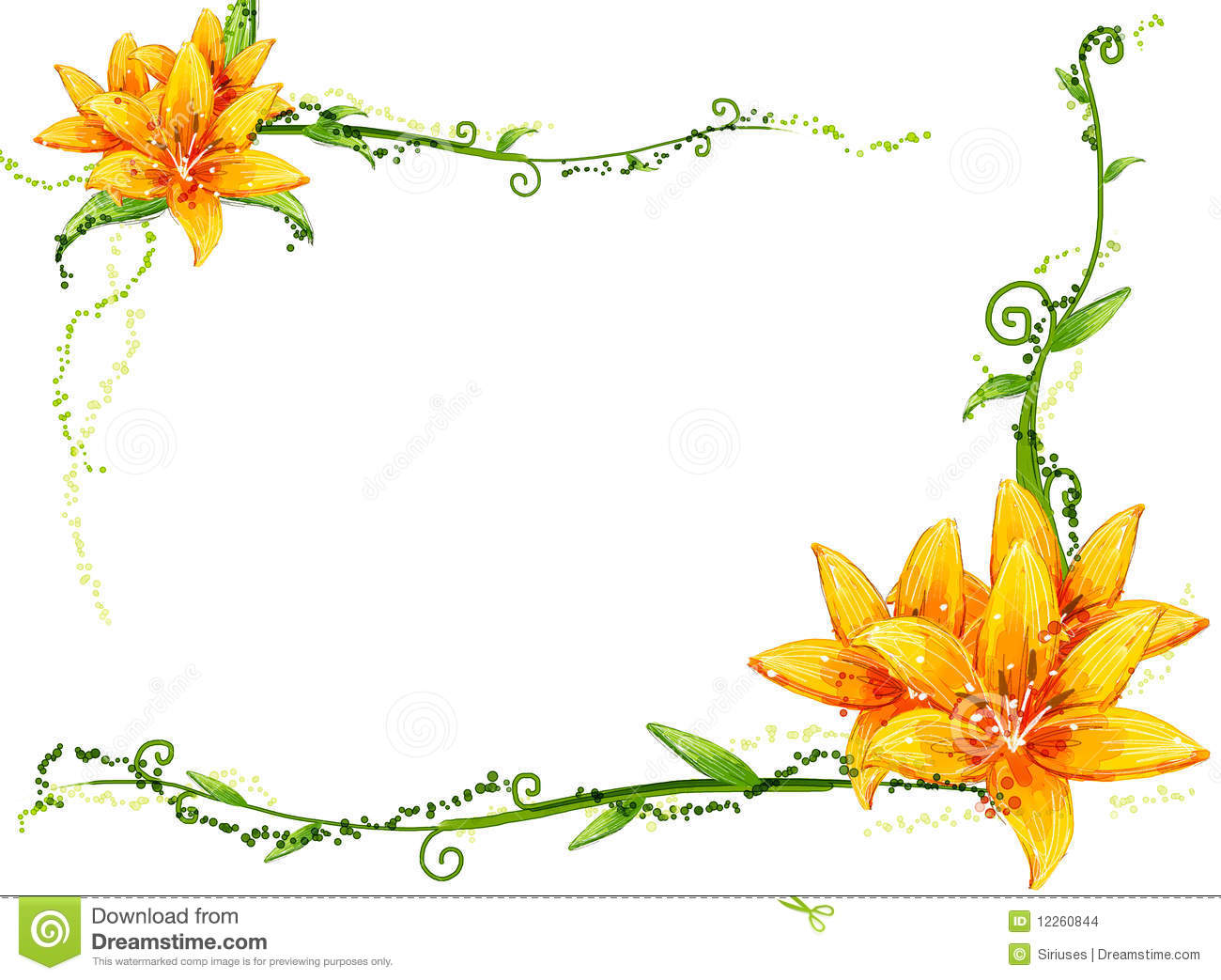 Yellow flower and vines stock illustration illustration of artistic yellow flower and vines mightylinksfo
