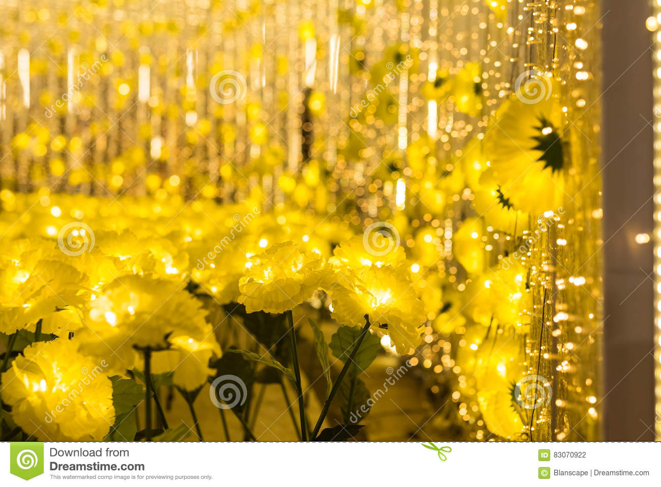 Yellow Flowers With Bokeh Abstract X X27mas Stock Photo Image