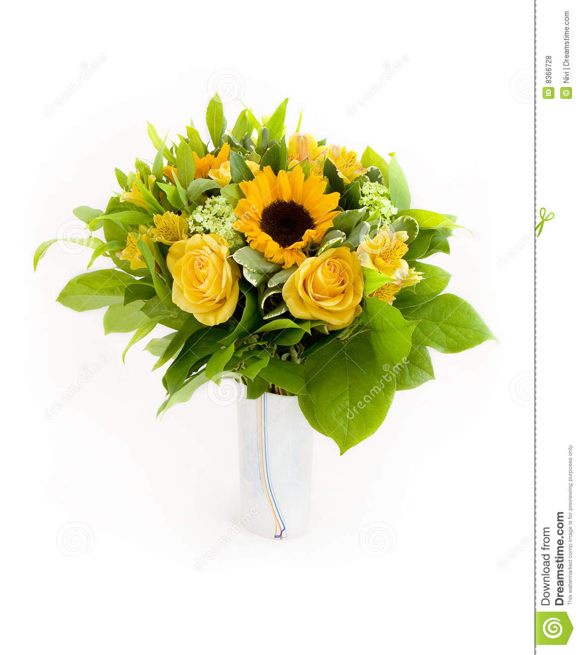 Yellow Flowers Bouquet Royalty Free Stock Photos - Image: 8366728