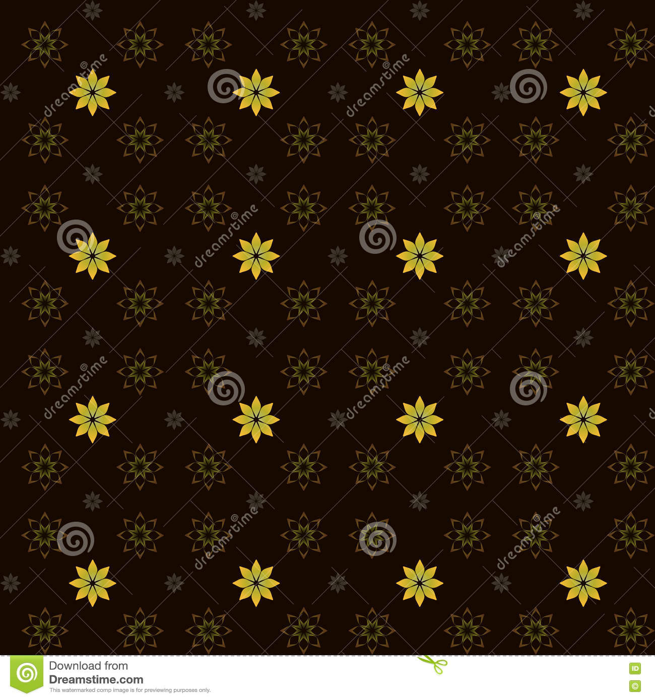 Yellow flowers stock vector illustration of design graphics 71865677 illustration made by three kinds of yellow flowers on the brown background mightylinksfo