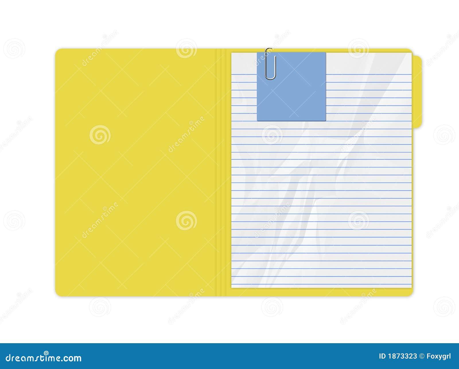 Yellow Folder Stock Photos - Image: 1873323