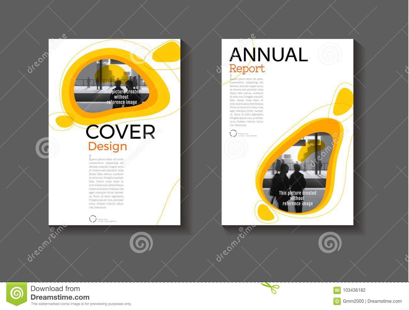 Yellow Free From Background Modern Cover Design Book Abstract Brochure Templateannual Report Magazine And Flyer Layout Vector A4