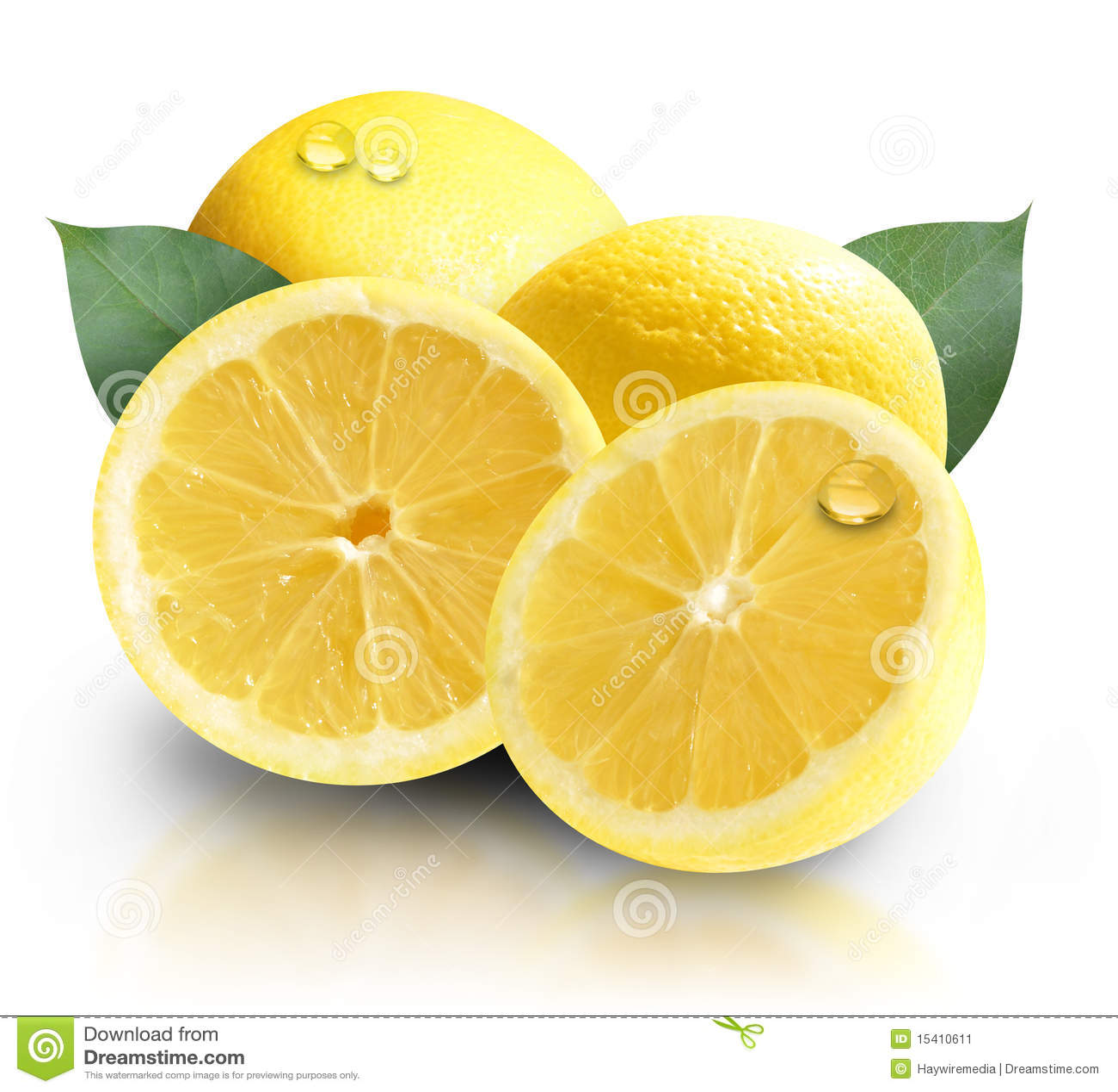 Yellow Fruit Lemons Isolated