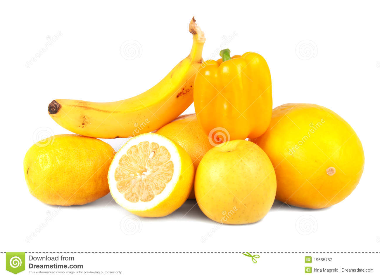 Yellow Fruits And Vegetables Stock Photo - Image: 19665752