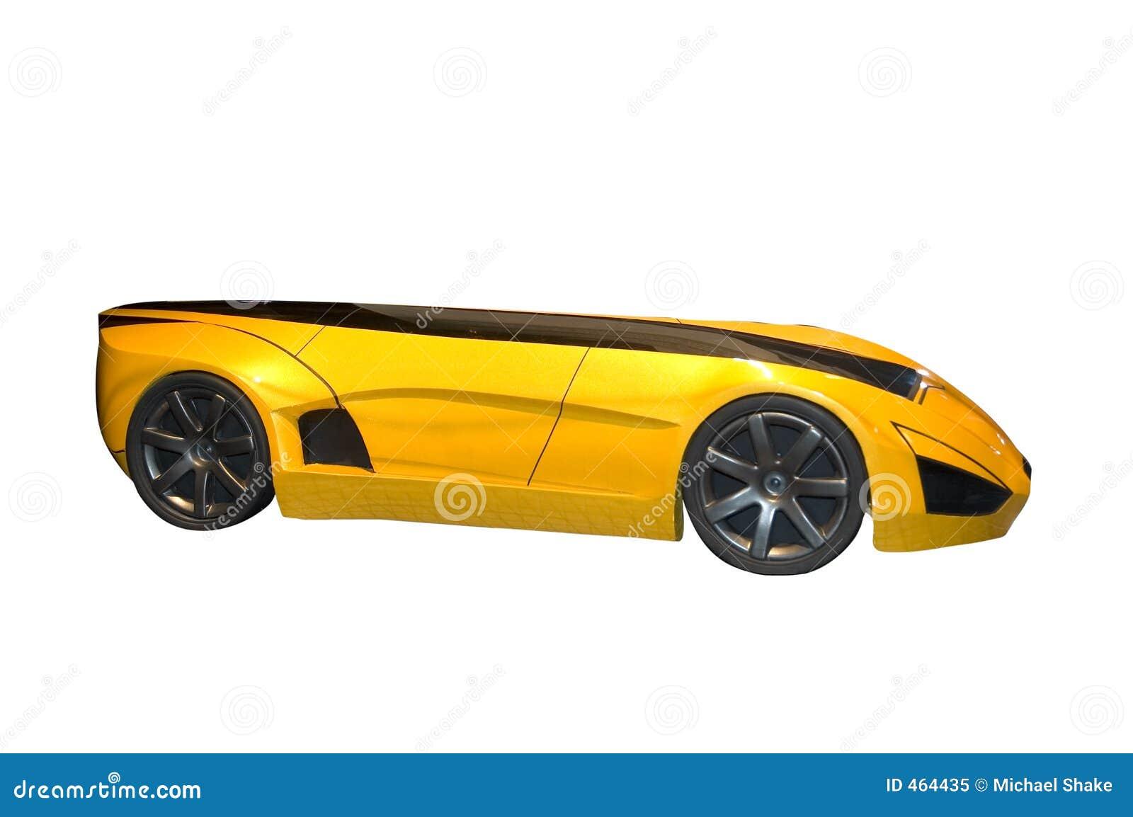 Yellow Futuristic Concept Car