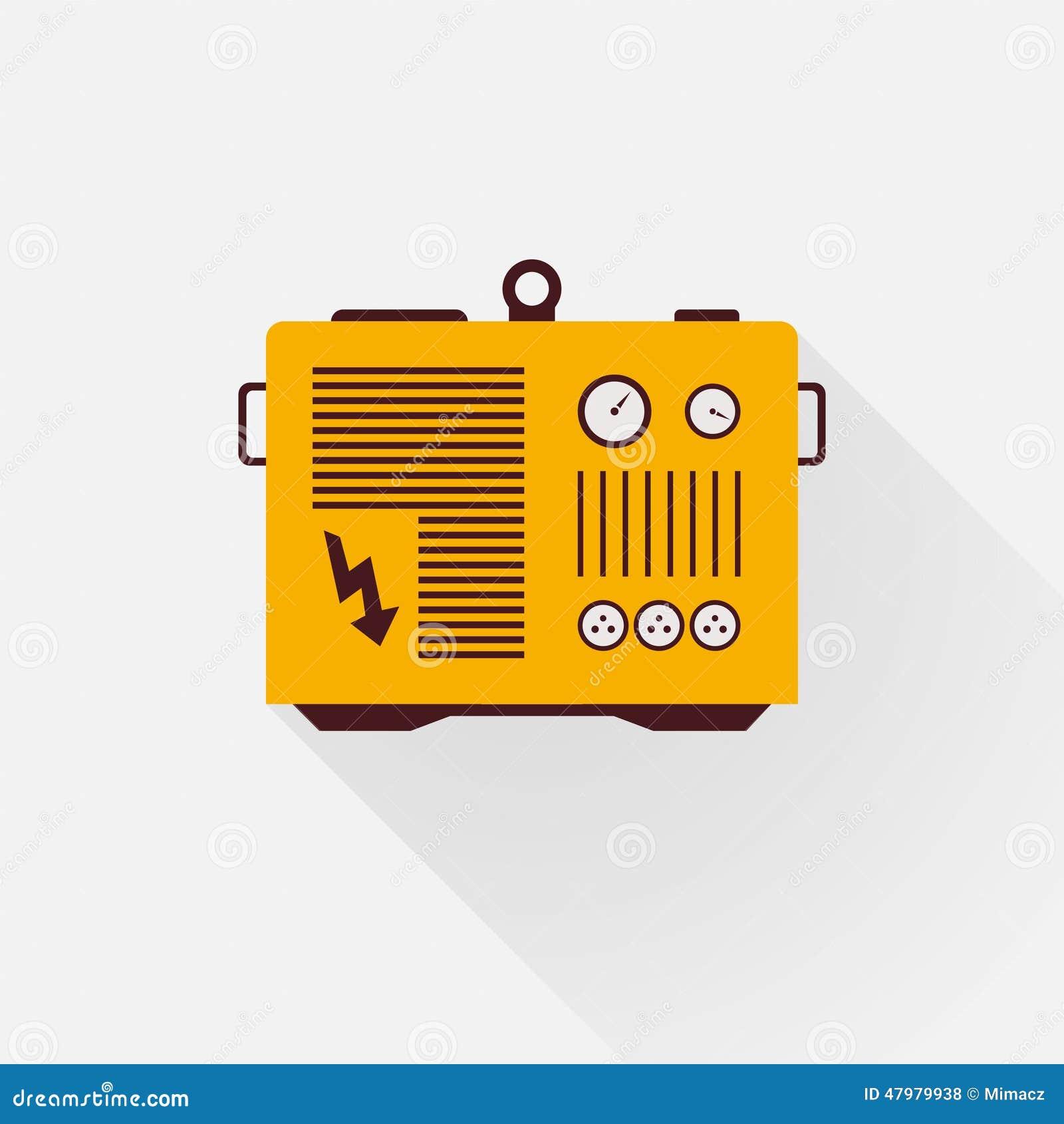 Yellow Generator Stock Vector Image Of Lightning Brown