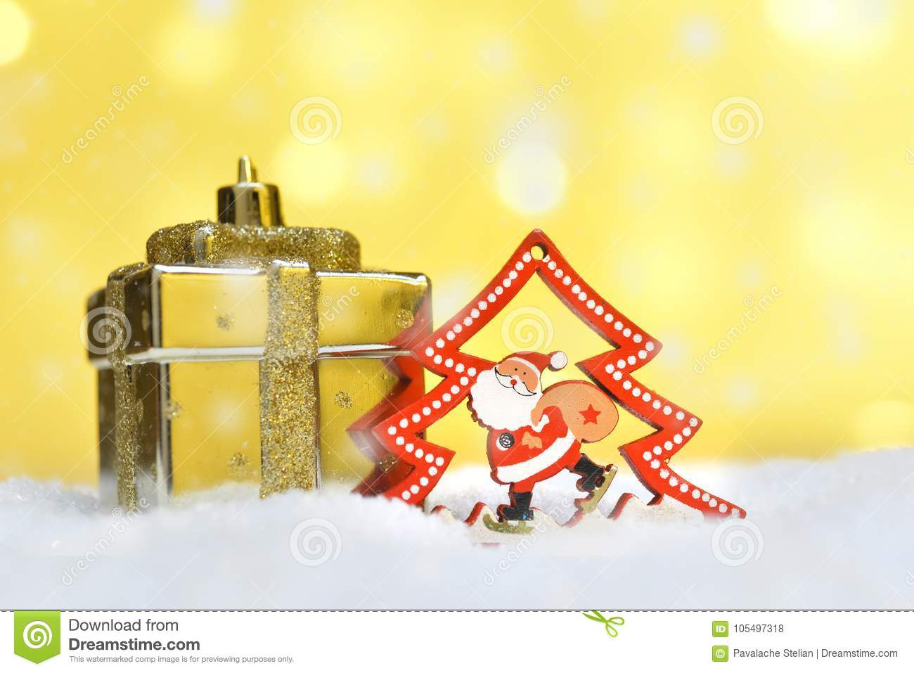 Different Christmas Ornaments Stock Photo - Image of card, festive ...