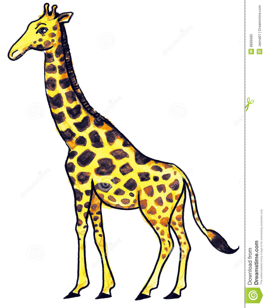 Yellow Giraffe Royalty Free Stock Photo - Image: 8896685