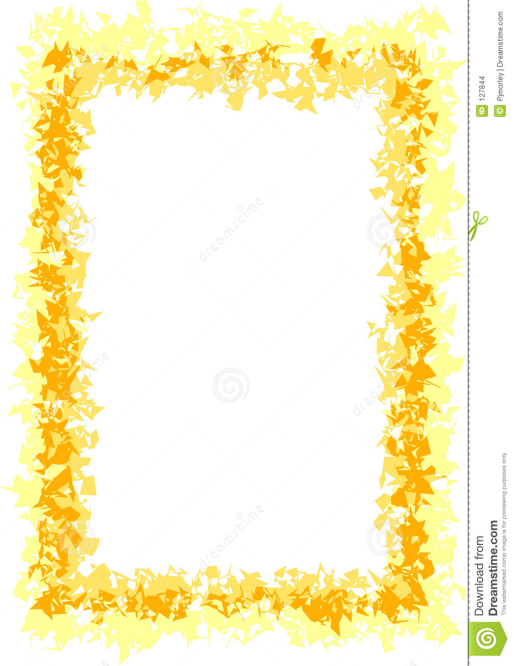 Border of yellow and gold, suitable for frames, invititation, menus ...