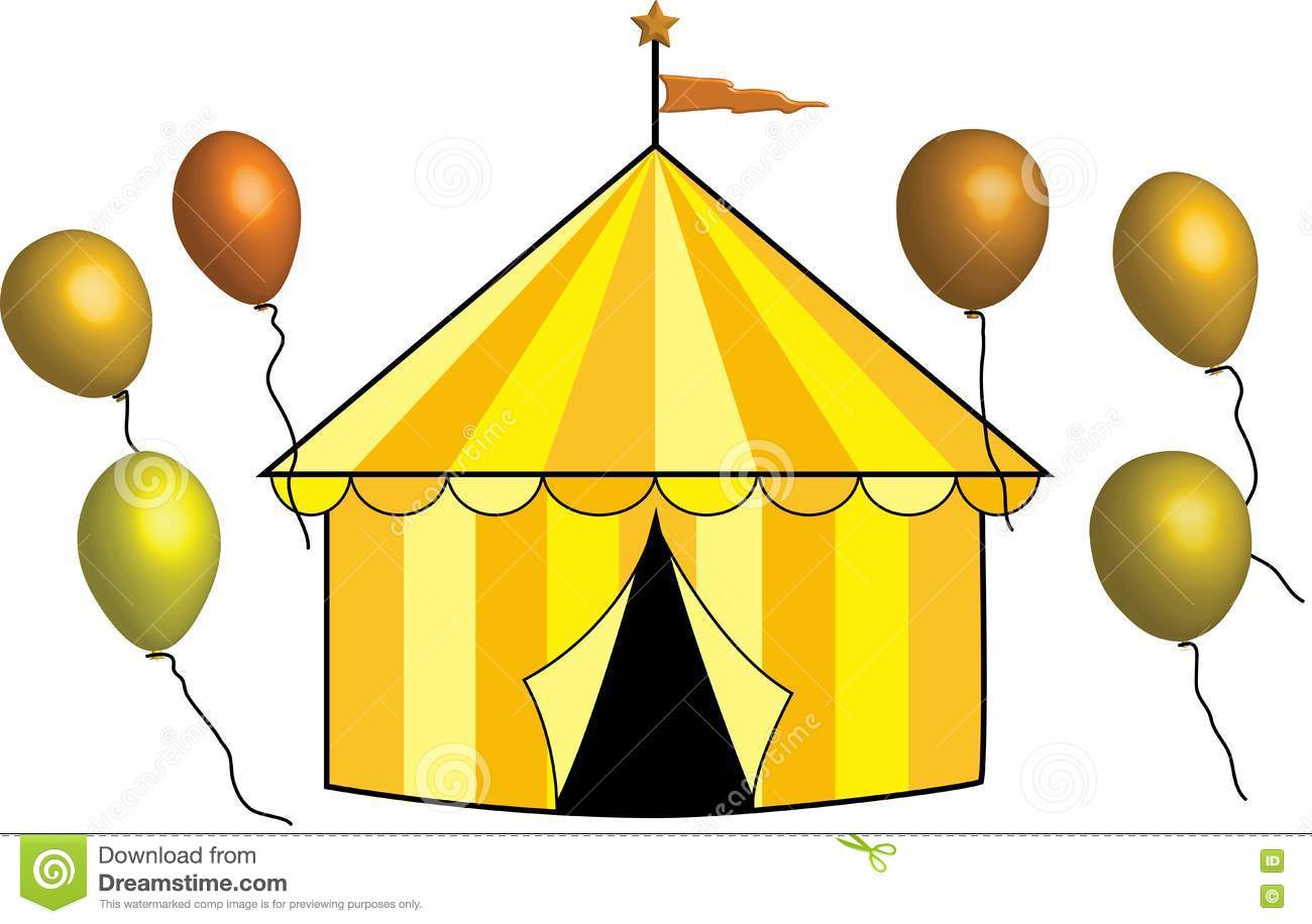 Yellow, Gold And Bronze Circus Tent With Balloons Stock ... Vintage Pastel Photography Background