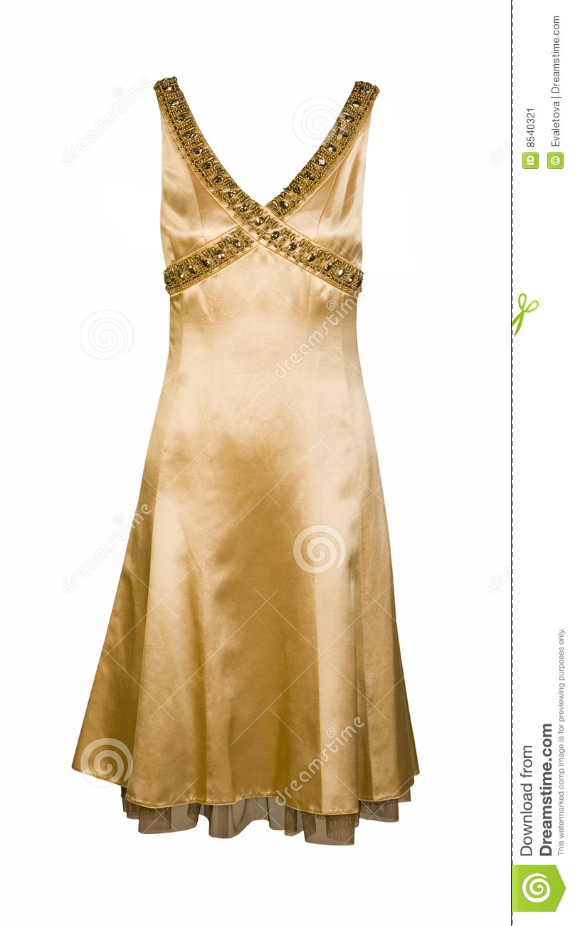 Yellow Gold Silk Dress Stock Image - Image 8540321