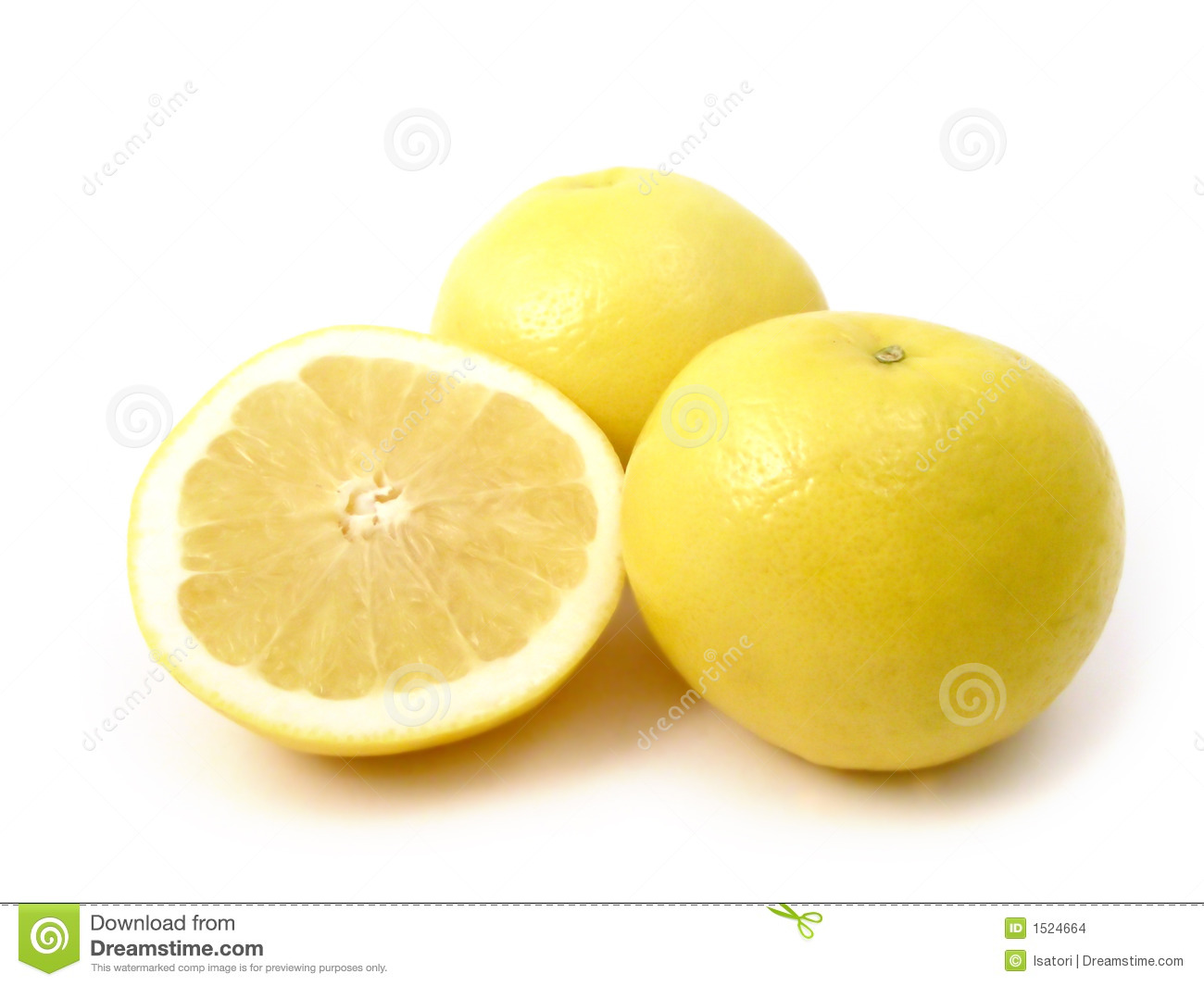 Yellow Grapefruit Stock Images - Image: 1524664