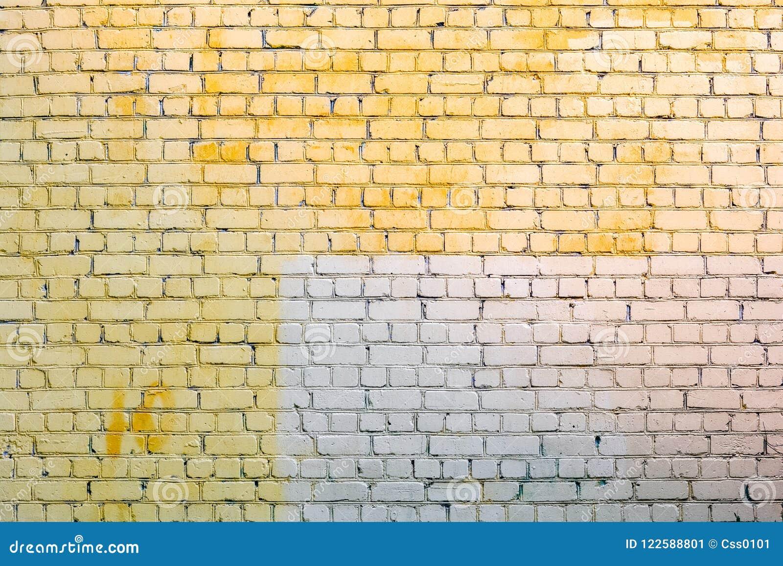 Yellow And Gray Stone Bricks Wall Stock Image - Image of block, gray ...