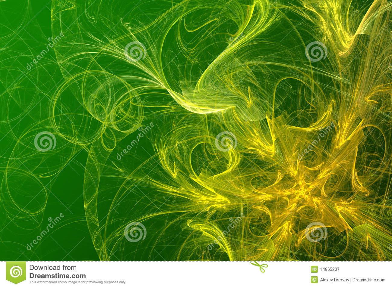 Yellow-green Abstract Background Royalty Free Stock ...