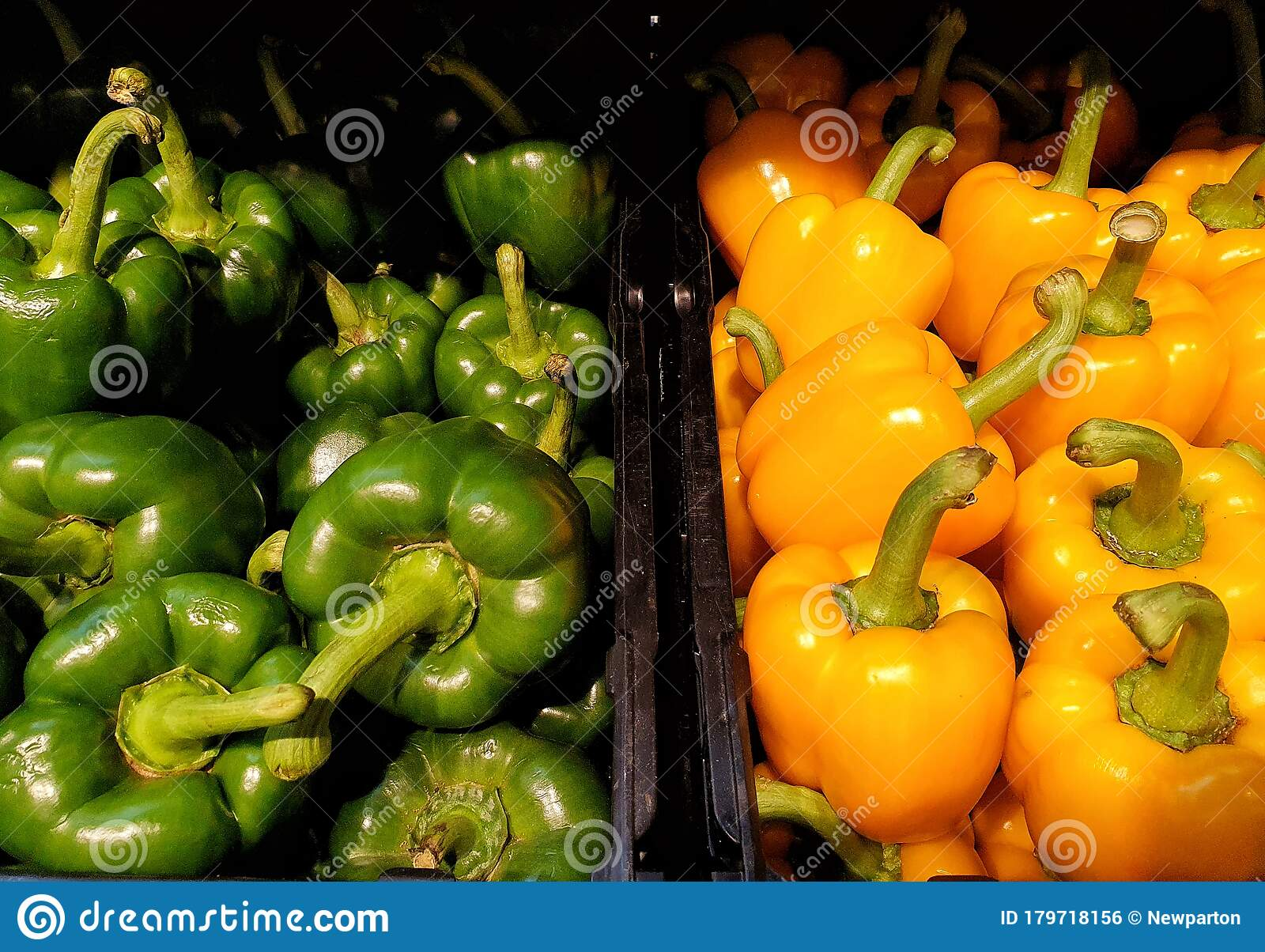 Yellow And Green Bell Pepper, Delicious Vegetable ...
