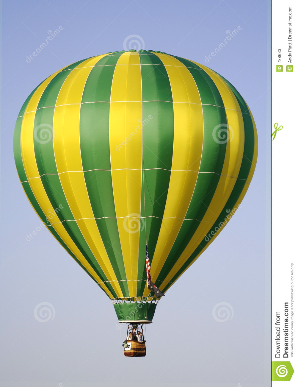 Yellow and Green Hot Air Balloon