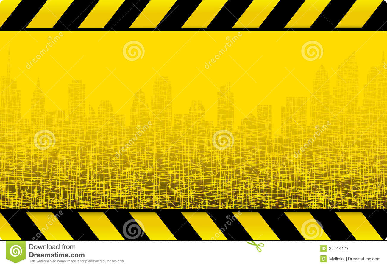 Grunge Construction Background With City Royalty Free ...