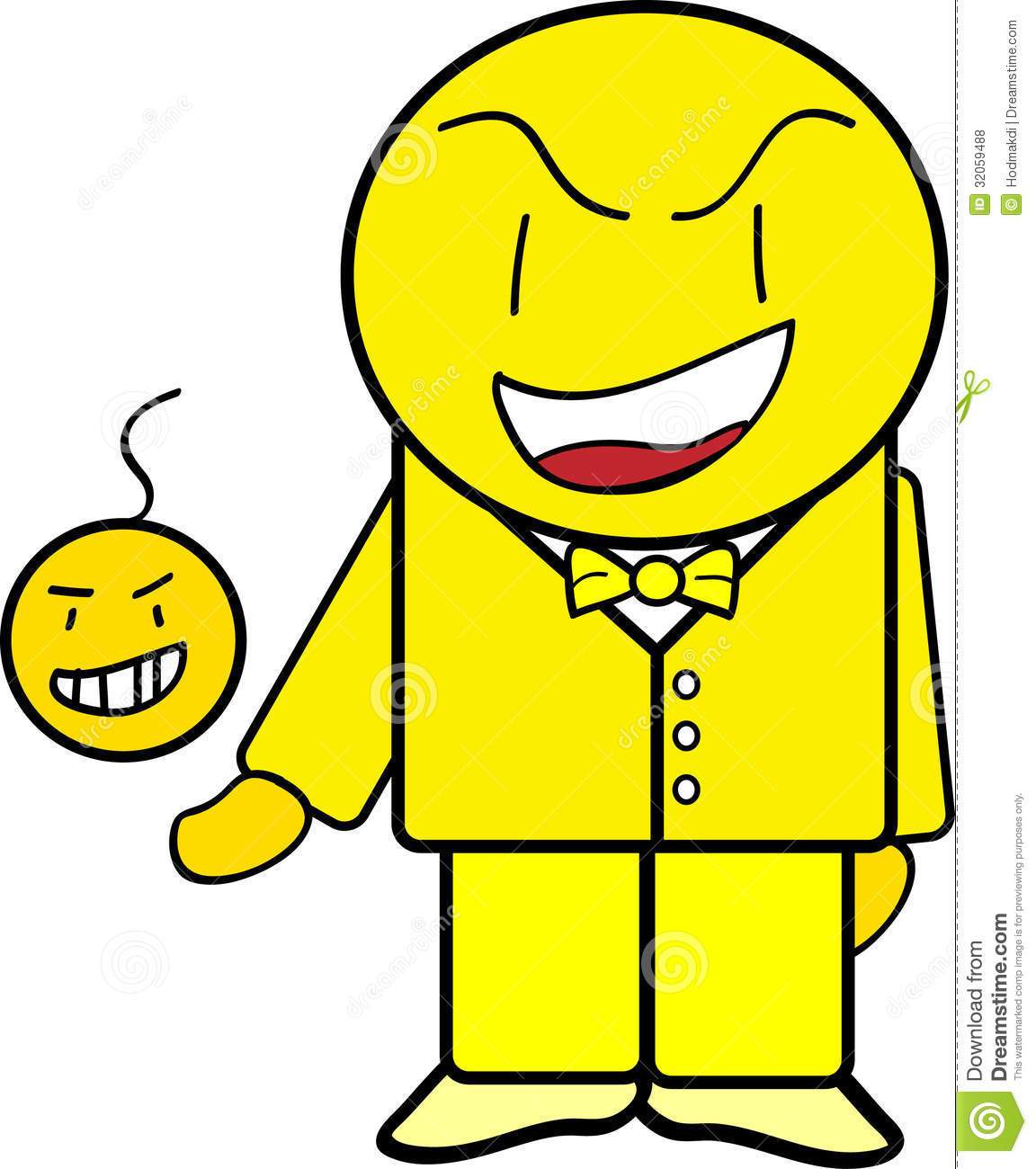 Cartoon Characters Yellow : Yellow guy stock illustration of color