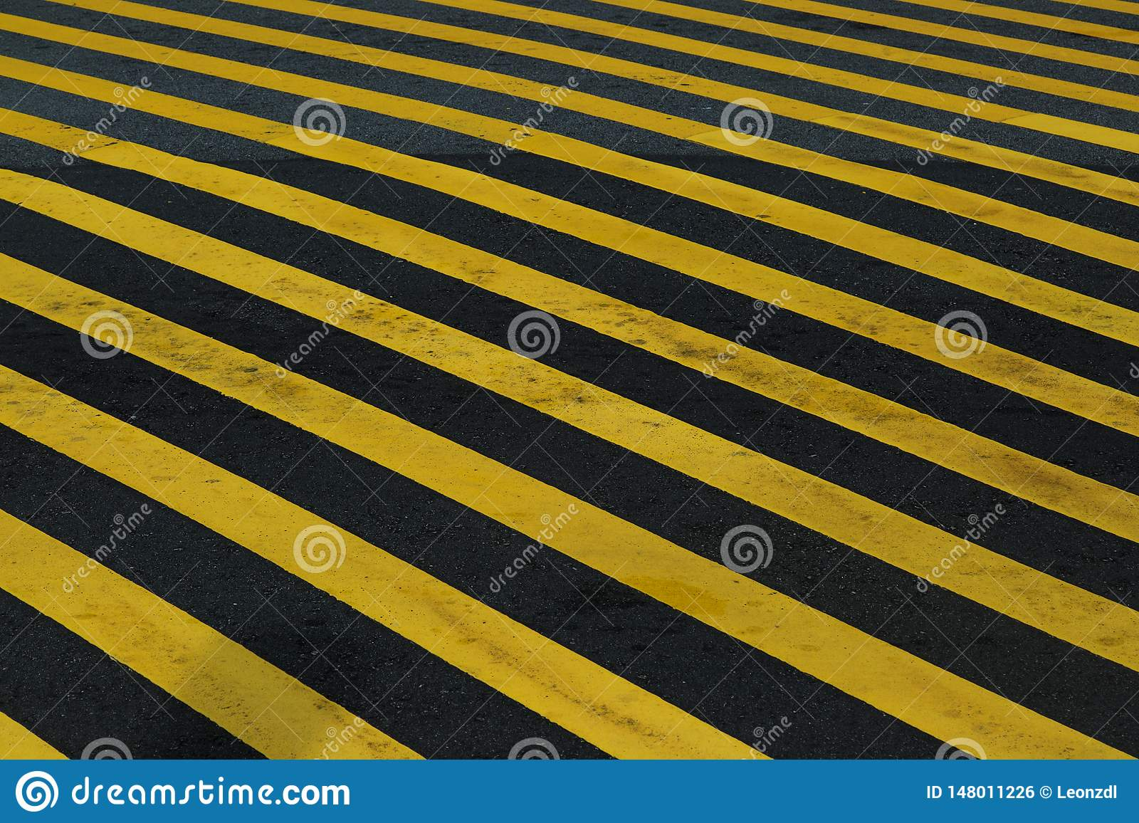 Yellow hazard stripe texture background for the floor