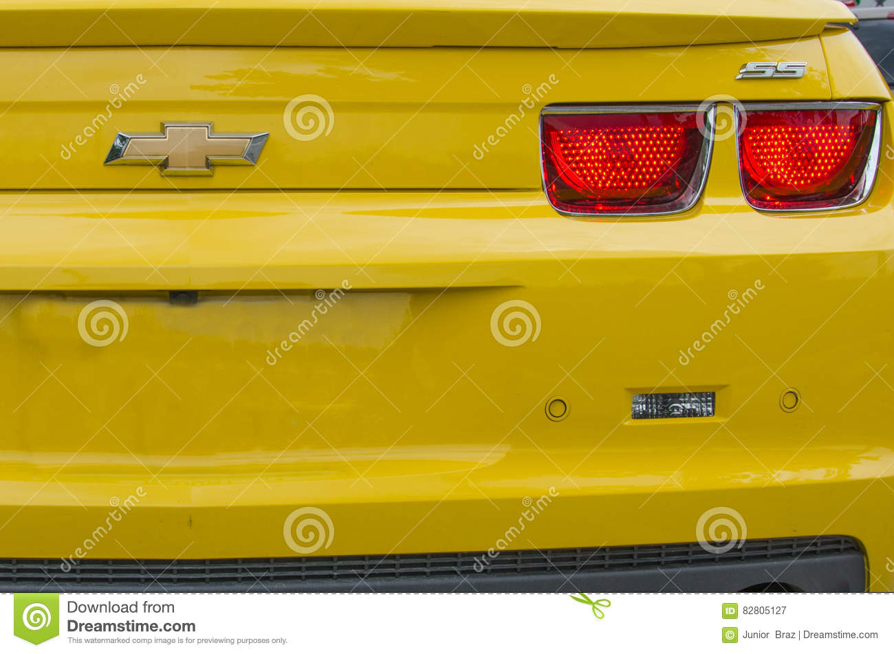 Yellow High Tech Chevrolet Camaro Ss Convertible Editorial Photography Image Of Engine Florida 82805127