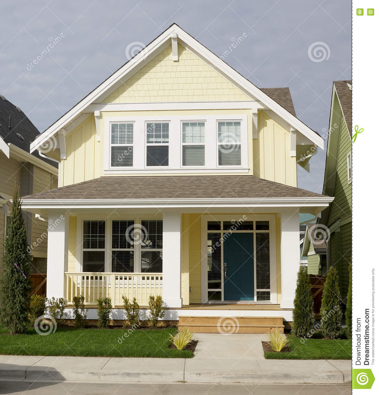 Yellow Home House Exterior Siding Stock Photo Image Of