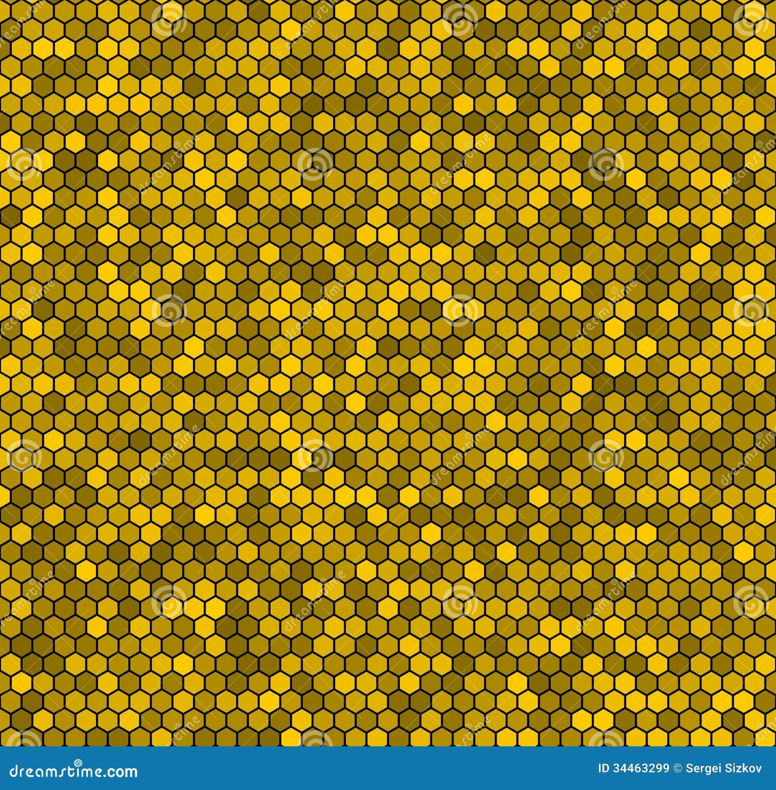 Yellow Honeycomb Vecto...