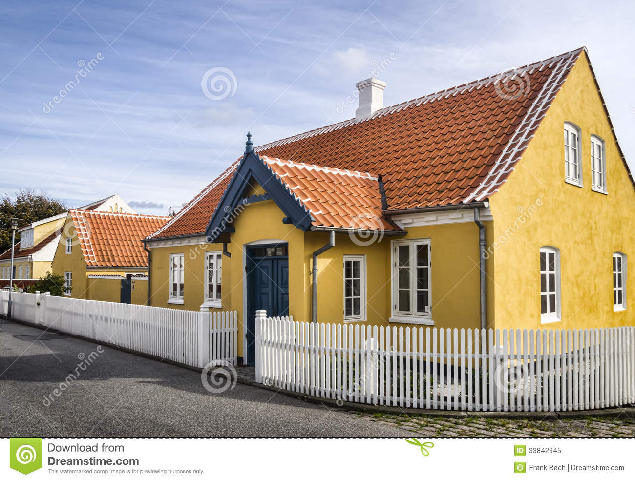 Yellow house in the center of skagen in jutland royalty free stock photo image 33842345 - The jutland small house ...